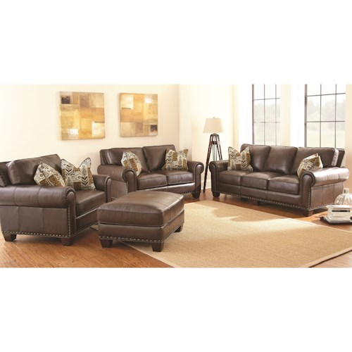 Morris Home Furnishings Escher Stationary Living Room Group