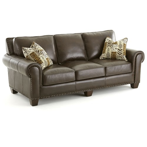 Vendor 3985 Escher Transitional Sofa with Nailhead Trim