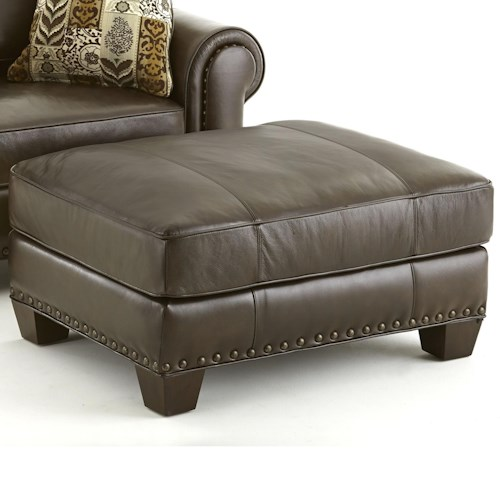 Steve Silver Escher Transitional Ottoman with Nailhead