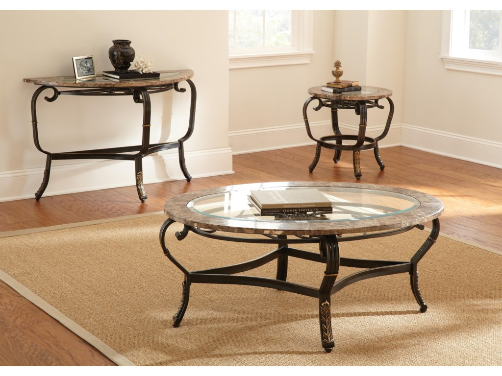 Shown with Cocktail Table and Sofa Table