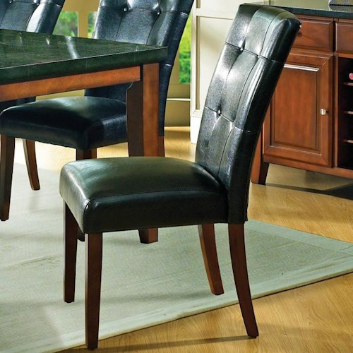 Morris Home Furnishings Granite Bello Black Parson Side Chair