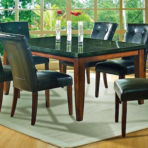 Steve Silver Granite Bello Rectangular Granite Top Table