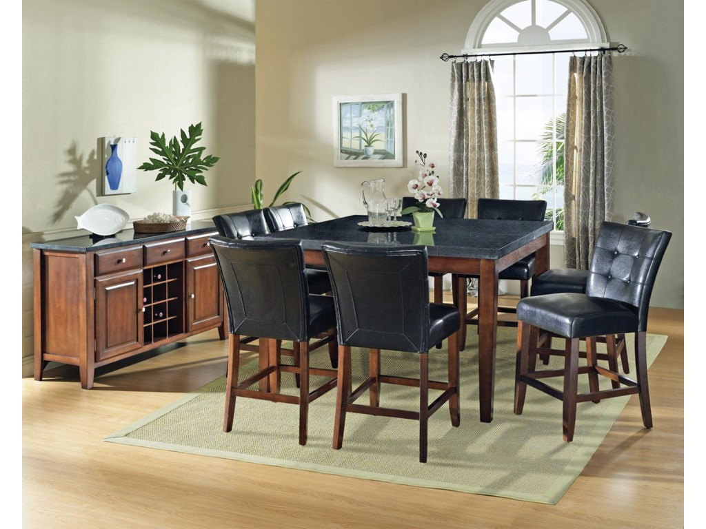 Shown in 9-Piece Pub Set with Server