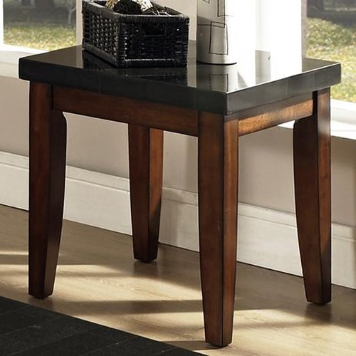 Morris Home Furnishings Granite Bello Granite Top End Table