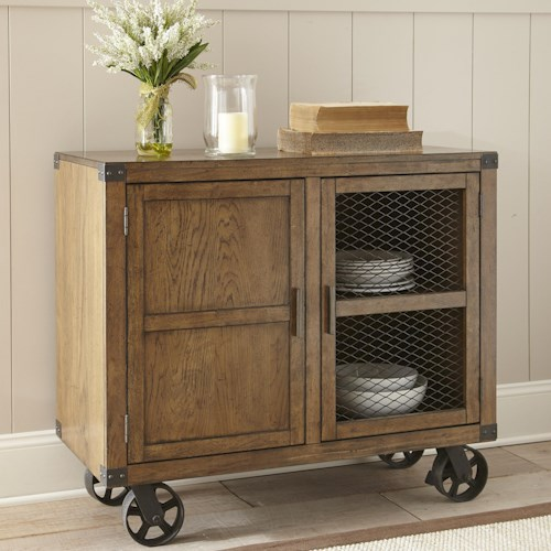 Morris Home Furnishings Hailee Hailee Server w/Caster and Bottle Storage