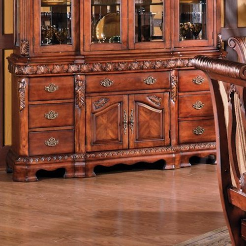 Steve Silver Harmony  Traditional 2-Door 7-Drawer Buffet