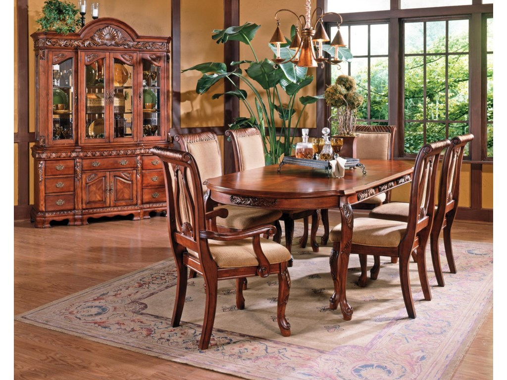 Shown in 7-Piece Dining Set with Buffet & Hutch