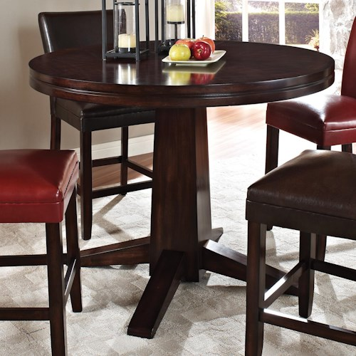Steve Silver Hartford Round Counter Pedestal Table