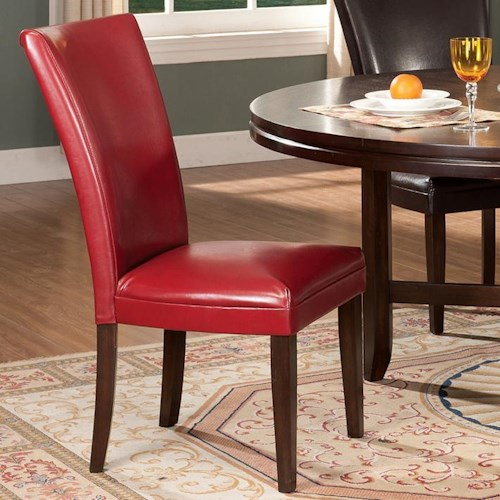 Morris Home Furnishings Glenhaven Contemporary Leather-Like Parsons Chair