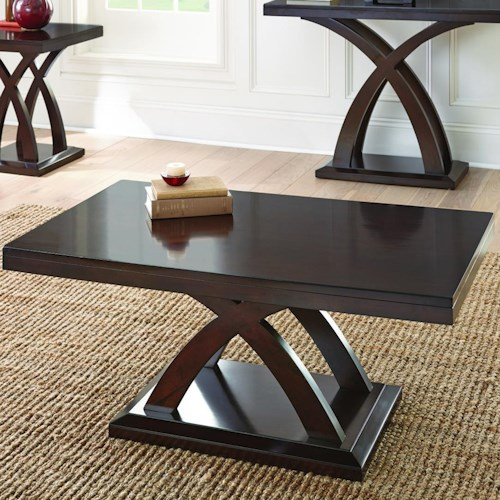 Morris Home Furnishings Jocelyn Cocktail Table with X Base