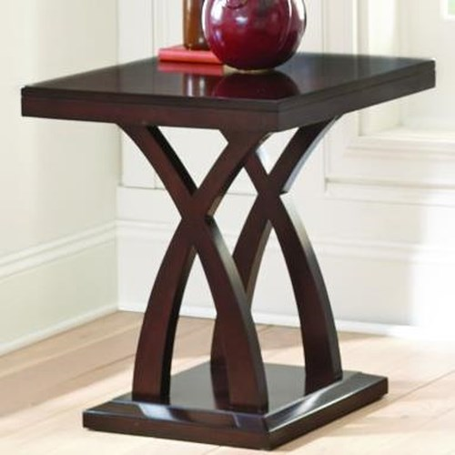 Steve Silver Jocelyn End Table with X Base