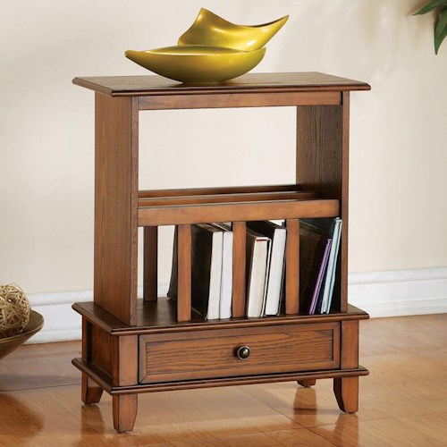Morris Home Furnishings Jordan Jordan Chairside End Table in Oak