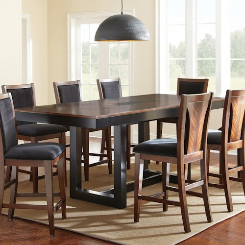 Morris Home Furnishings Julian Counter Height Dining Table with Granite Insert