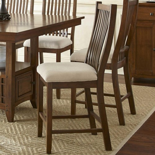 Morris Home Furnishings Kayan Counter Chair with Slat Back