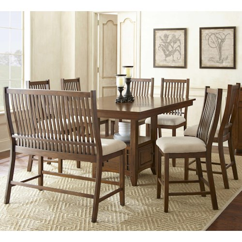 Steve Silver Kayan 8 Piece Counter Height Dining Set