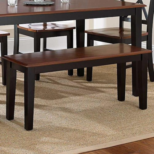 Vendor 3985 Kingston Casual Two-Tone 2-Seat Dining Bench