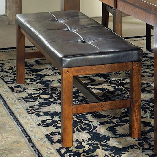 Morris Home Furnishings Lakewood  Dining Bench with Tufted Top