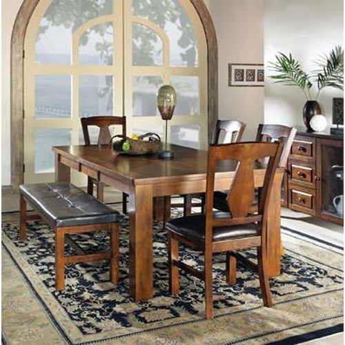 Steve Silver Lakewood  6-Piece Dining Table, Bench, & Side Chair Set