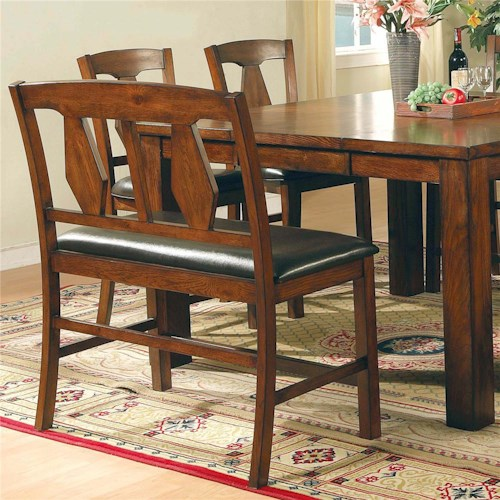 Vendor 3985 Lakewood  Transitional Splat Backrest Dining Bench