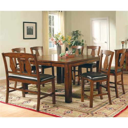 Vendor 3985 Lakewood  8-Piece Pub Table, Bench, & Side Chair Set