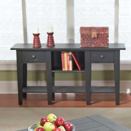 Steve Silver Liberty Casual 2-Drawer 2-Shelf Sofa Table