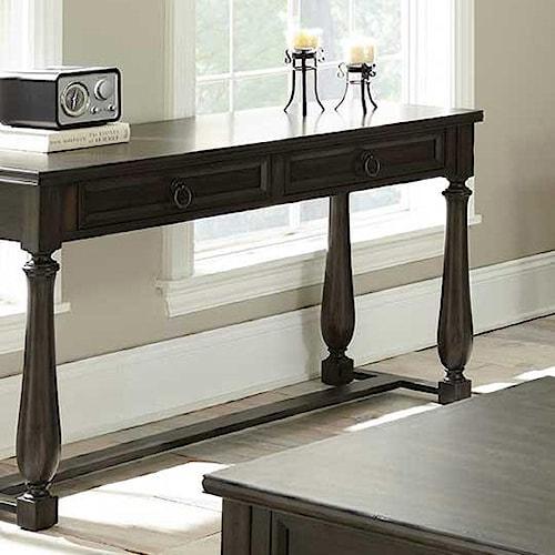 Vendor 3985 Leona 2 Drawer Sofa Table with Turned Legs