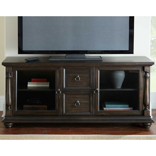 Steve Silver Leona 2 Door TV Console with Pilaster Detail