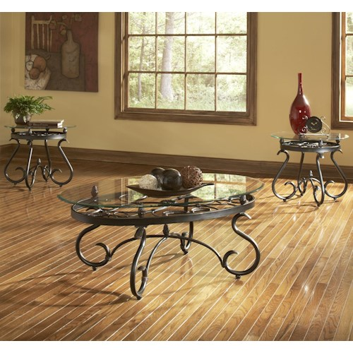 Steve Silver Lola Traditional 3-Pack Occasional Table Set