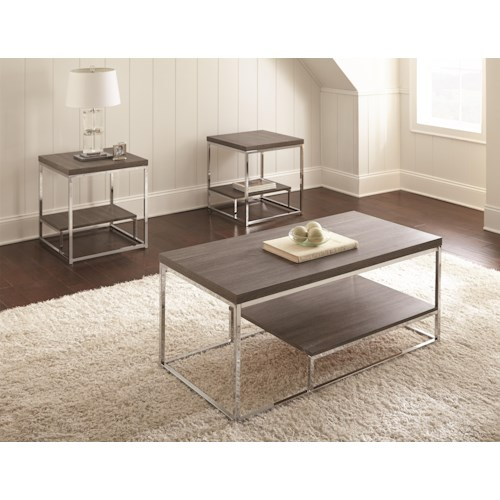 Morris Home Furnishings Whitwell 3 Table Set includes Cocktail Table and 2 End Tables