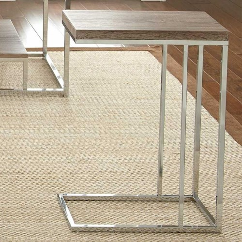 Vendor 3985 Lucia Chairside End Table with Metal Frame