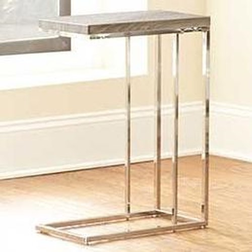 Steve Silver Lucia Chairside End Table with Metal Frame