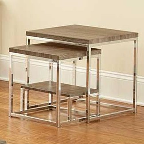 Steve Silver Lucia 2 Piece Nesting Table Group with Shelf