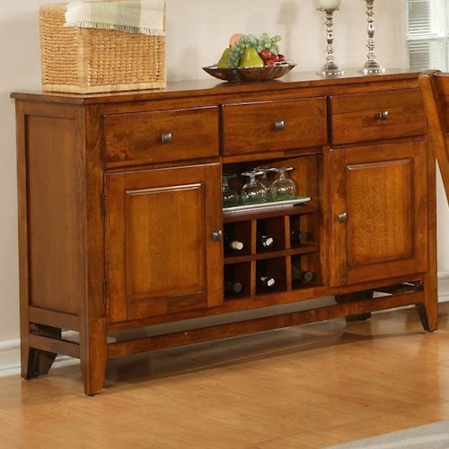 Morris Home Furnishings Mango Light Oak Dining Room Server