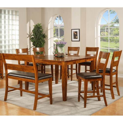 Morris Home Furnishings Mango 8 Pc. Counter Table, Stools, Bench