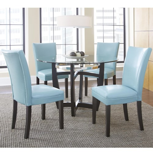 Steve Silver Matinee 5 Piece Dining Set with Parson Side Chairs