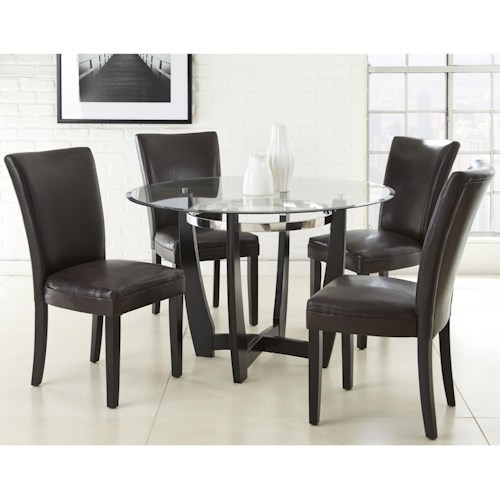Morris Home Furnishings Matinee 5 Piece Dining Set with Parson Side Chairs