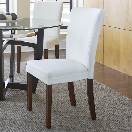 Morris Home Furnishings Matinee Bonded Leather Side Chair