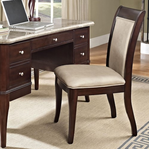 Steve Silver Marseille Transitional Upholstered Desk Side Chair