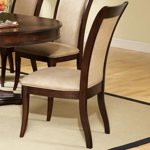 Morris Home Furnishings Marseille Transitional Upholstered Seat and Back Dining Side Chair