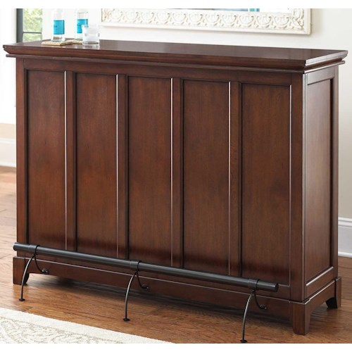 Vendor 3985 Martinez Counter Height Bar Unit with Open Back Storage