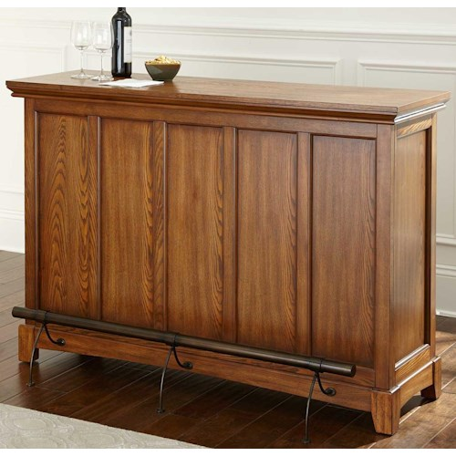 Morris Home Furnishings Martinez Bar Height Unit with Open Back Storage
