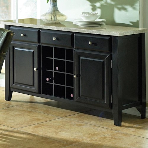 Steve Silver Monarch Server with Wine Rack