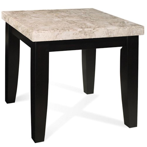 Steve Silver Monarch Marble Veneer Top End Table
