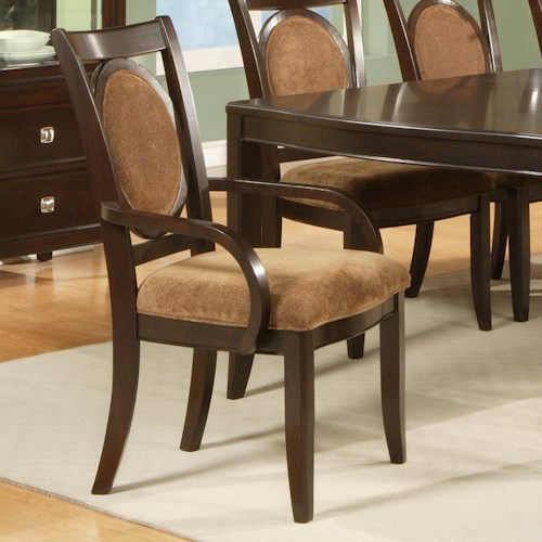 Vendor 3985 Montblanc Dining Arm Chair with Oval Back