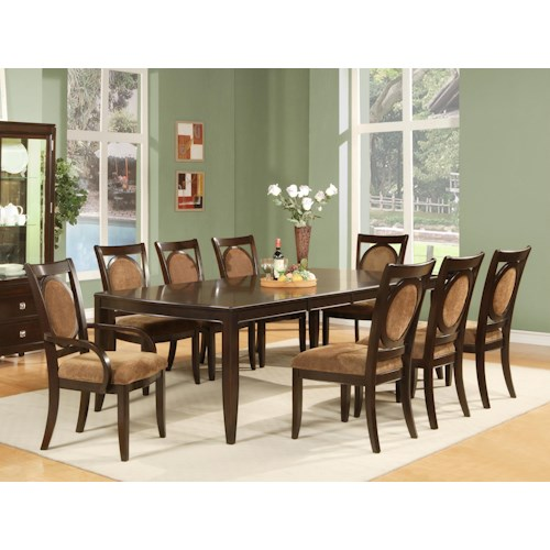Morris Home Furnishings Montblanc 9 Piece Table and Chair Set
