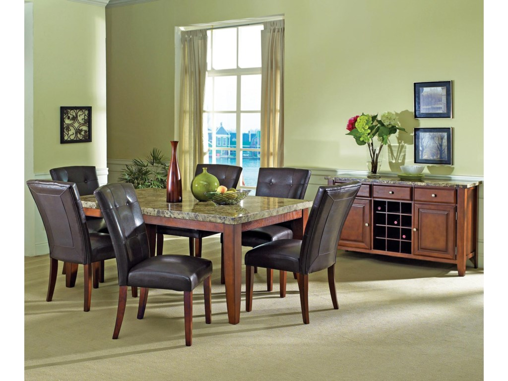 Shown with Coordinating Parsons Chairs and Server