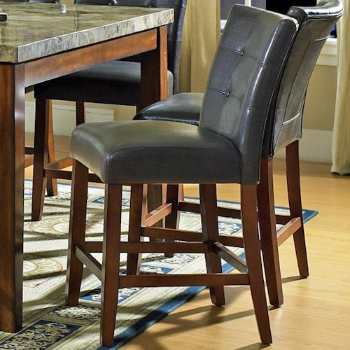 Morris Home Furnishings Montibello Dark Brown Parsons Counter Height Chair