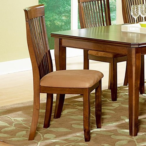 Morris Home Furnishings Montreal Transitional Cushioned Slat Back Side Chair