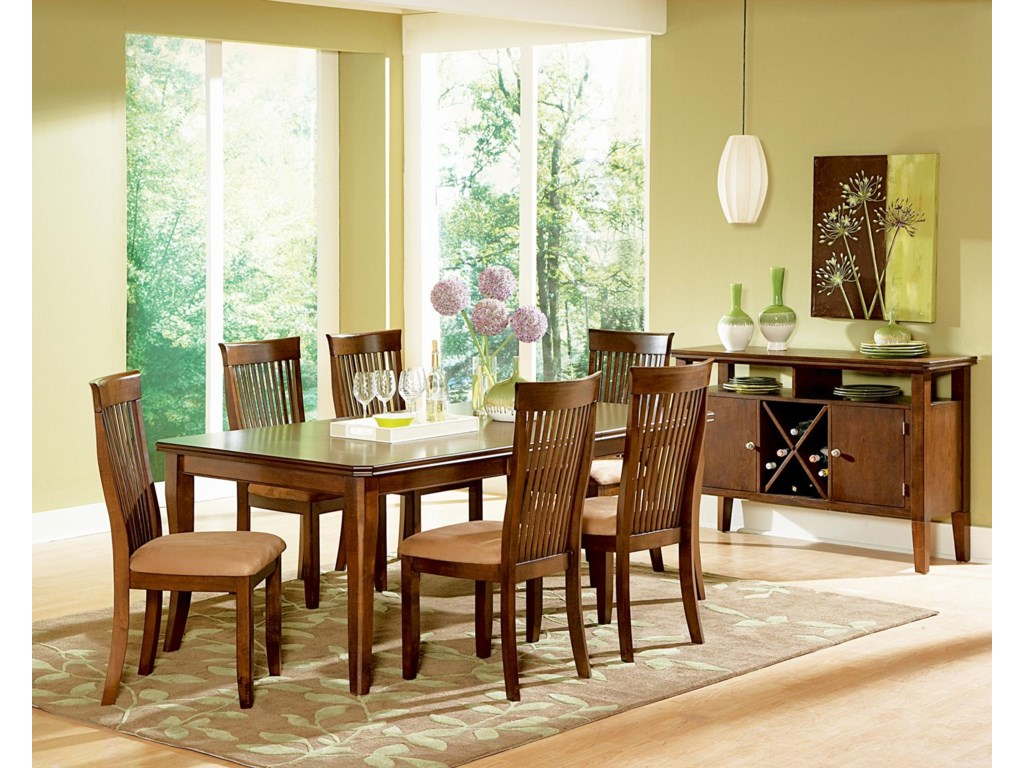Shown in 7-Piece Dining Set with Server