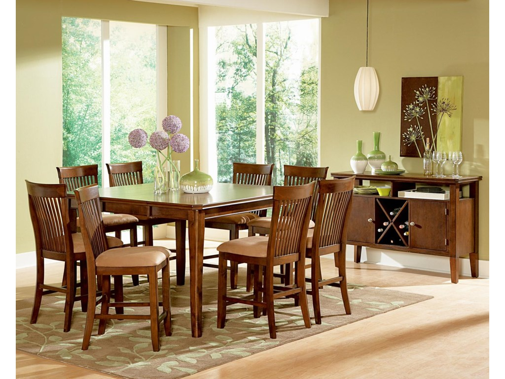 Shown in 9-Piece Dining Pub Set with Server